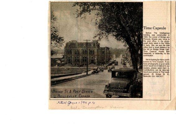 Time Capsule: Bridge Street - view of post office