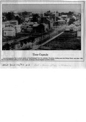 Time capsule: Bridge Street looking east, 1860.