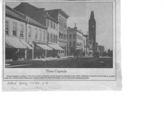 Time capsule: Front Street Belleville 1920's