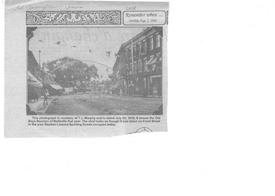 Remember when: Front Street Belleville 1910 (Old Boys Reunion of Belleville)