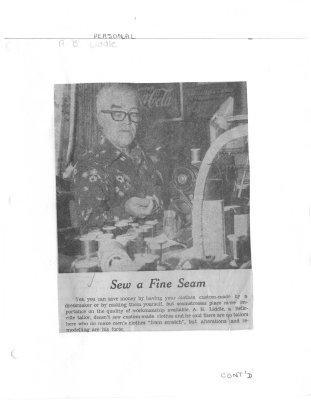 Sew a fine seam: A.B. Liddle