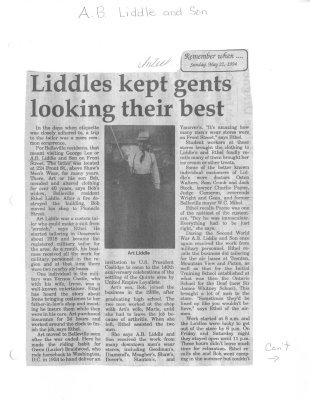 Remember when: Liddles kept gents looking their best