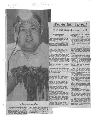 Worms turn a profit: ADL Enterprises