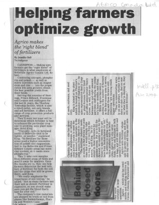 Helping farmers optimize growth: Agrico Canada Ltd.