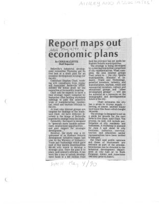 Report maps out economic plans: Ainley and Associates