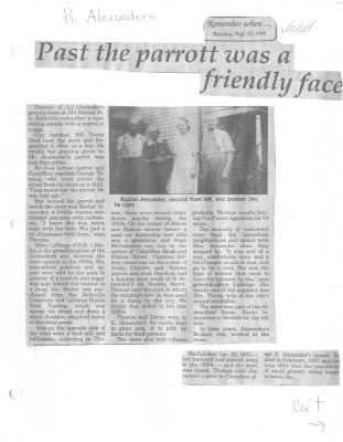Remember When: Past the parrott was a friendly face