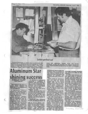 Aluminum Star shining success