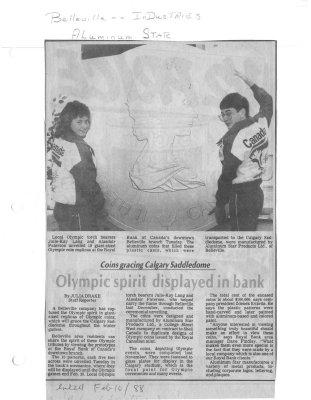 Coins gracing Calgary Saddledome: Olympic spirit displayed in bank: Aluminum Star