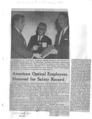 American Optical Employees honored for safely record
