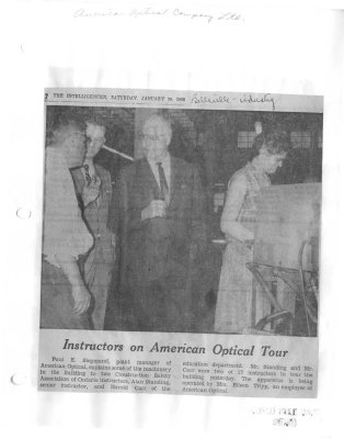 Instructors on American Optical Tour