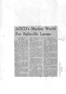 AOCO's Market World for Belleville Lenses: American Optical Company