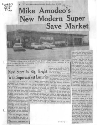 Mike Amodeo's new modern Super Save Market officially opens tomorrow morning at 10 a.m.