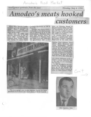 Intelligencer portraits from the past: Amodeo's meats hooked customers