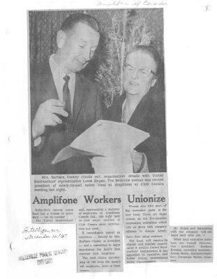 Amplifone workers unionize