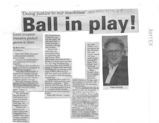 Doing justice to our machines: Ball in play (Amtex)