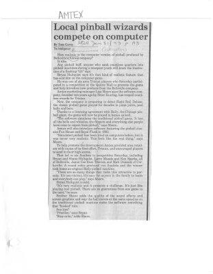 Local pinball wizards compete on computer - Amtex