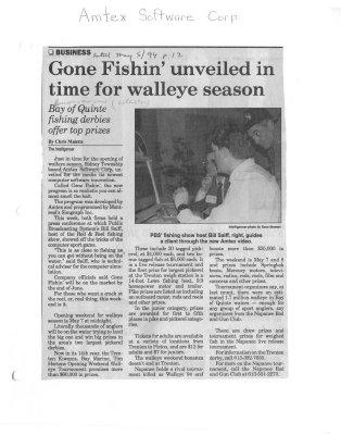gone Fishin' unveiled in time for walleye season: Amtex