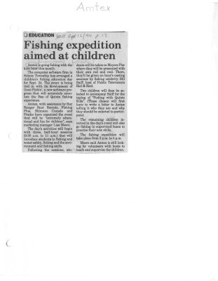 Fishing expedition aimed at children: Amtex