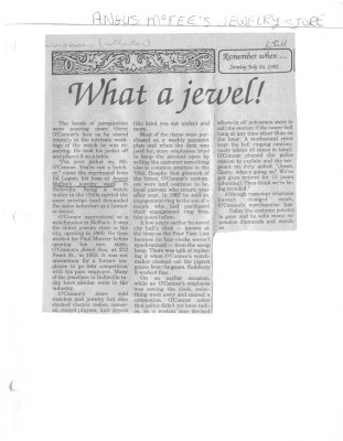 Remember when: What a jewel!  Angus McFee's Jewelry store