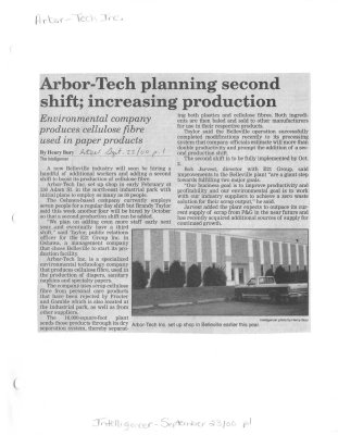 Arbor-Tech planning second shift; increasing production