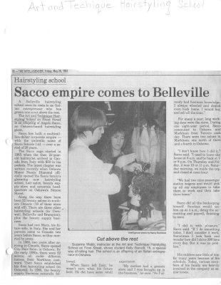 Hairstyling school: Sacco empire comes to Belleville