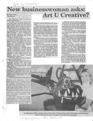 New businesswoman asks: Art U Creative?