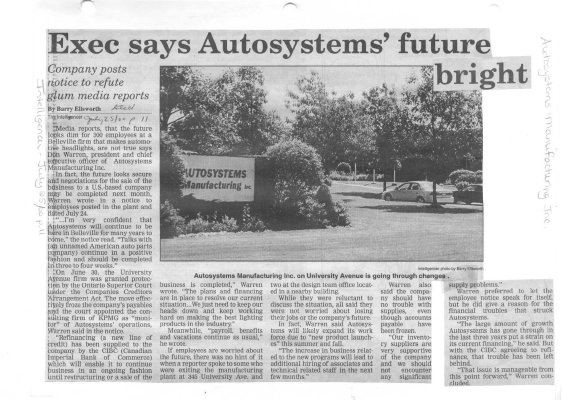 Exec says Autosystems' future bright