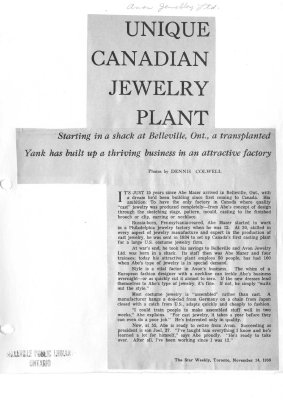 Unique Canadian Jewelry Plant: Avon Jewelry