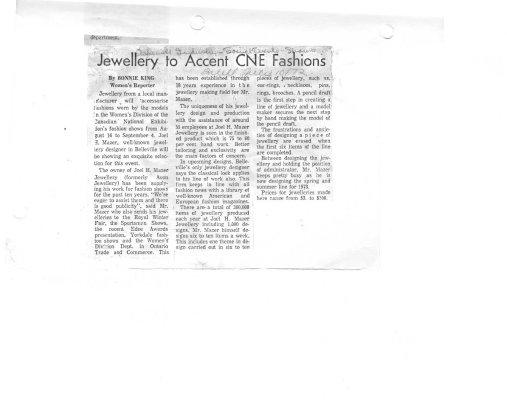 Jewellery to accent CNE Fashions: Avon Jewelry Ltd