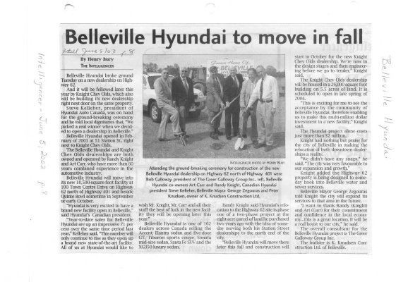 Belleville Hyundai to move in fall