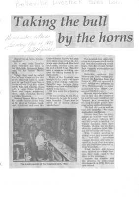 Taking the bulls by the horns: Belleville Livestock Sales Barn