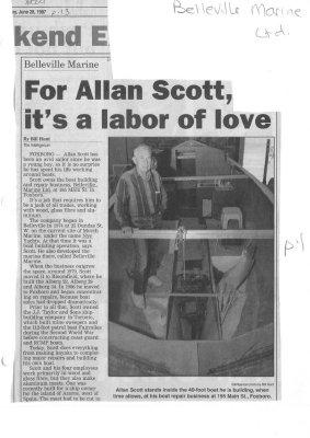 Belleville Marine:  For Allan Scott, it's a labor of love