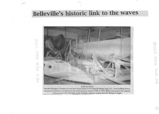 Belleville's historic link to the waves: Belleville Marine Yards Ltd.