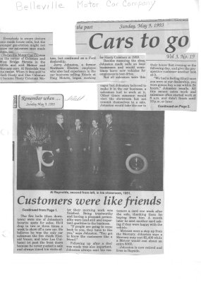 Remember When:  Cars to go: Belleville Motor Car Company