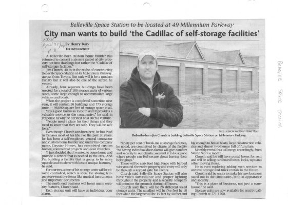 "City man wants to build ""the Cadillac of self-storage facilities"": Belleville Space Station"