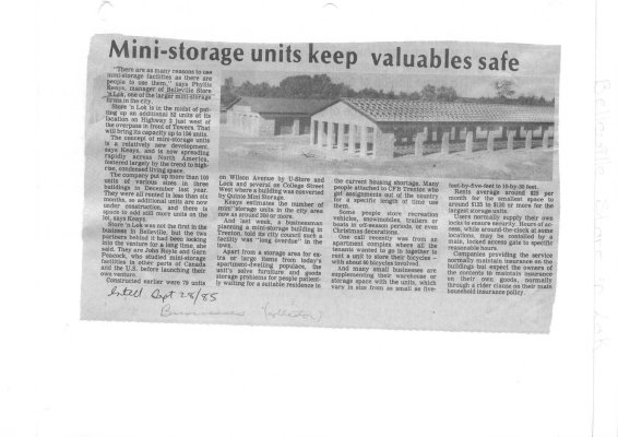 Mini-storage units keep valuables safe: Belleville Store 'n Lok
