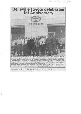 Belleville Toyota celebratees 1st Anniversary