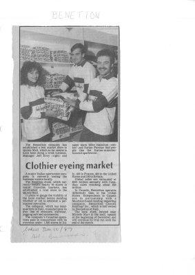 Clothier eyeing market: Benetton