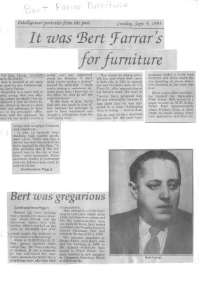 Portraits from the past: It was Bert Farrar's for furniture