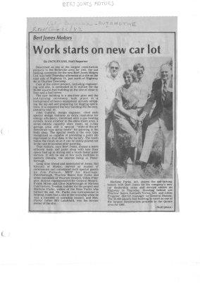 Bert Jones Motors: Work starts on new car lot