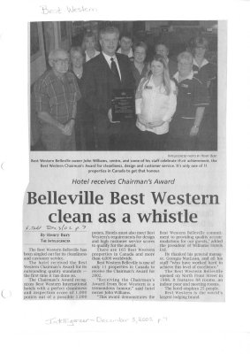 Belleville Best Western clean as a whistle