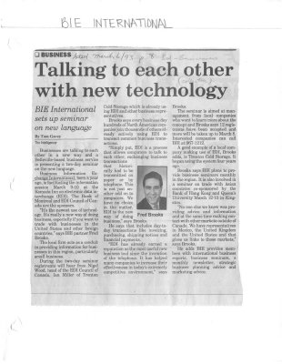 Talking to each other with new technoloby: BIE International sets up seminar on new language