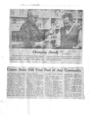 Changing Hands: Corner Store still vital part of any community: Bill & Erma's