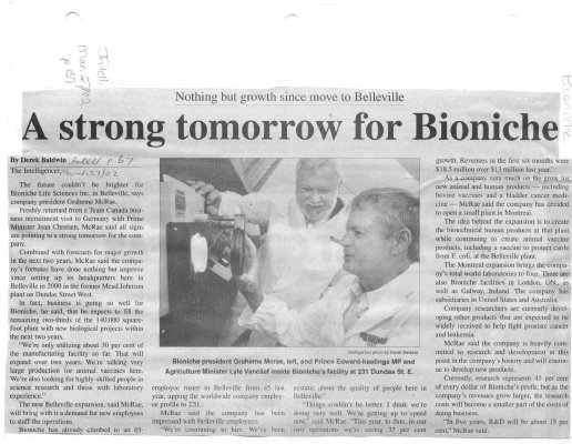 A strong tomorrow for Bioniche
