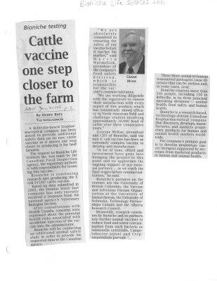 Cattle vaccine one step closer to the farm - Bioniche