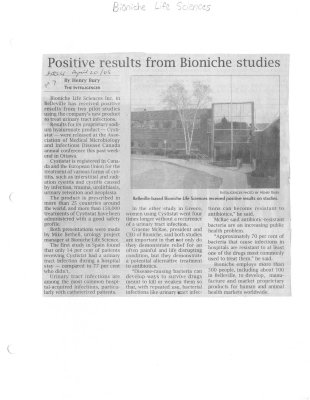 Positive results from Bioniche studies
