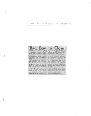 Bad Boy to close