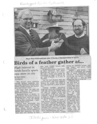Birds of a feather gather at... Backyard Birds of Quinte