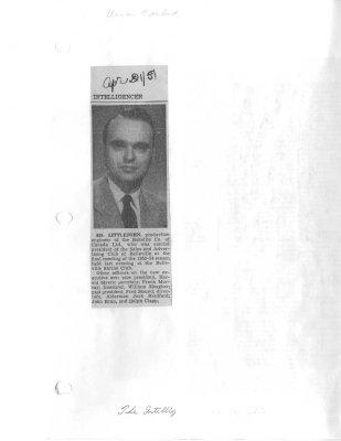 Ed Littlejohn: Bakelite Co. of Canada Ltd.
