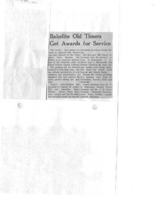 Bakelite Old Timers get awards for service